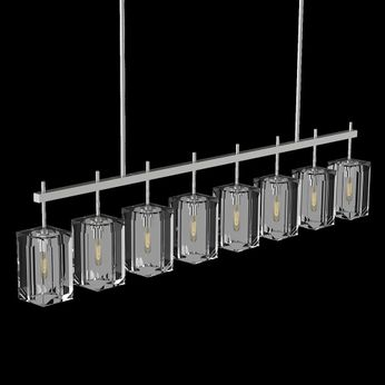 Fine Art Handcrafted Lighting 877740-1 Monceau Silver LED Kitchen Island Light Fixture