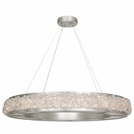 Fine Art Lamps 878040 Arctic Halo Contemporary Silver LED Hanging Pendant Lighting