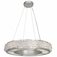 Fine Art Lamps 878140 Arctic Halo Contemporary Silver LED Hanging Light Fixture