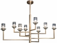Fine Art Lamps 879040-2ST Neuilly Soft Gold Leaf Lighting Chandelier