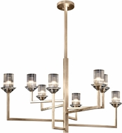 Fine Art Lamps 879140-2ST Neuilly Soft Gold Leaf Ceiling Chandelier