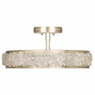 Fine Art Handcrafted Lighting 879940-1 Arctic Halo Gold LED Flush Mount Lighting Fixture