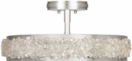Fine Art Lamps 879940ST Arctic Halo Silver Leaf Ceiling Light Fixture