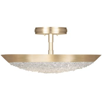 Fine Art Handcrafted Lighting 880040-1 Arctic Halo Gold LED Home Ceiling Lighting