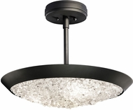 Fine Art Lamps 880040-2ST Arctic Halo Matte Black Flush Mount Lighting