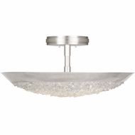 Fine Art Handcrafted Lighting 880040 Arctic Halo Silver LED Flush Mount Ceiling Light Fixture