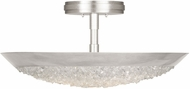 Fine Art Lamps 880040ST Arctic Halo Silver Leaf Overhead Lighting