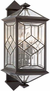 Fine Art Handcrafted Lighting 881081ST Oxfordshire Bronze Outdoor 27.5 Wall Lighting Sconce