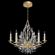 Fine Art Handcrafted Lighting 881140-1 Lily Buds Gold LED Chandelier Lamp