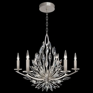 Fine Art Handcrafted Lighting 881140 Lily Buds Silver LED Lighting Chandelier