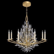 Fine Art Handcrafted Lighting 881240-1 Lily Buds Gold LED Ceiling Chandelier