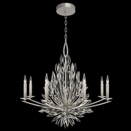Fine Art Handcrafted Lighting 881240 Lily Buds Silver LED Chandelier Light