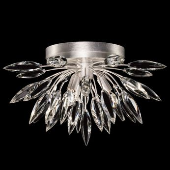 Fine Art Handcrafted Lighting 881440 Lily Buds Contemporary Silver LED Overhead Lighting Fixture