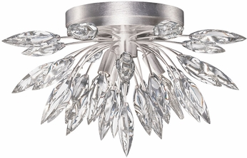 Fine Art Lamps 881440ST Lily Buds Silver Leaf Flush Mount Light Fixture