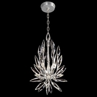 Fine Art Handcrafted Lighting 881540 Lily Buds Contemporary Silver LED Ceiling Light Pendant