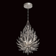 Fine Art Handcrafted Lighting 881640 Lily Buds Modern Silver LED Drop Ceiling Light Fixture