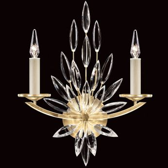 Fine Art Handcrafted Lighting 881750-1 Lily Buds Contemporary Gold LED Wall Sconce Lighting