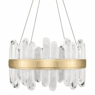 Fine Art Handcrafted Lighting 882040-21 Lior Contemporary Gold LED Pendant Lamp
