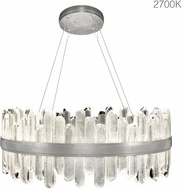 Fine Art Lamps 882340-11ST Lior Contemporary Silver LED Hanging Pendant Light