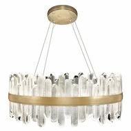 Fine Art Handcrafted Lighting 882340-21 Lior Contemporary Gold LED Pendant Lamp
