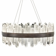 Fine Art Handcrafted Lighting 882340-3 Lior Contemporary Bronze LED Hanging Lamp