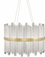 Fine Art Lamps 882440-2ST Lior Contemporary Gold LED Hanging Pendant Light