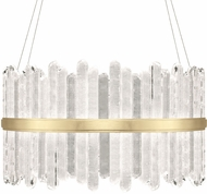 Fine Art Lamps 882740-2ST Lior Contemporary Gold LED Hanging Pendant Light