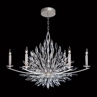 Fine Art Handcrafted Lighting 883240 Lily Buds Silver LED Hanging Chandelier