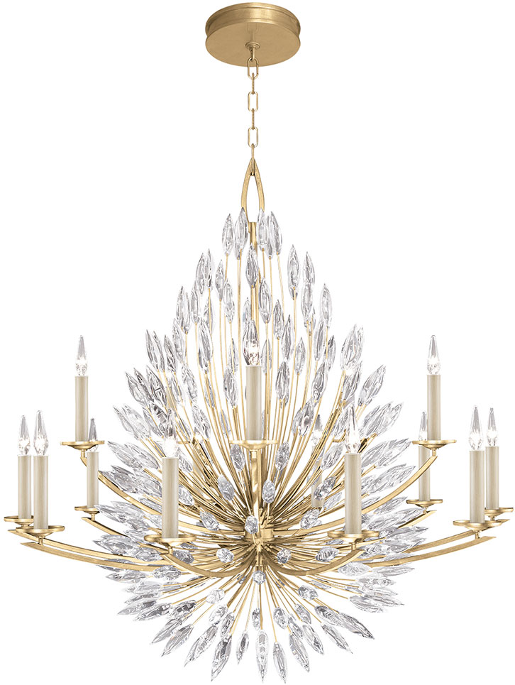 Fine Art Lamps 883340 1st Lily Buds Gold Chandelier Lighting