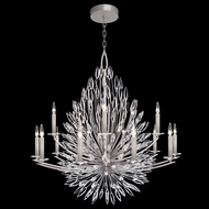 Fine Art Handcrafted Lighting 883340 Lily Buds Silver LED Chandelier Lighting