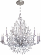 Fine Art Lamps 883340ST Lily Buds Silver Lighting Chandelier