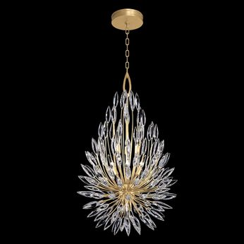 Fine Art Handcrafted Lighting 883840-1 Lily Buds Gold LED Pendant Lamp