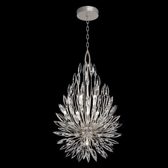 Fine Art Handcrafted Lighting 883840 Lily Buds Silver LED Lighting Pendant