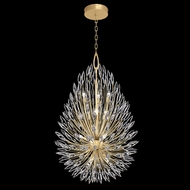 Fine Art Handcrafted Lighting 883940-1 Lily Buds Gold LED Hanging Light