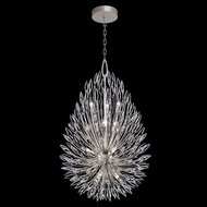 Fine Art Handcrafted Lighting 883940 Lily Buds Silver LED Hanging Lamp