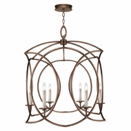Fine Art Lamps 887840-1 Cienfuegos Contemporary Bronze LED Foyer Lighting Fixture