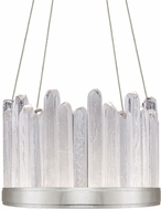 Fine Art Handcrafted Lighting 888140-1 Lior Contemporary Silver LED Hanging Pendant Light