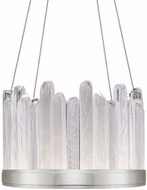 Fine Art Handcrafted Lighting 888140-11 Lior Contemporary Silver LED Pendant Hanging Light