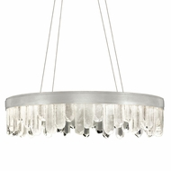Fine Art Handcrafted Lighting 888240-1 Lior Contemporary Silver LED Ceiling Pendant Light