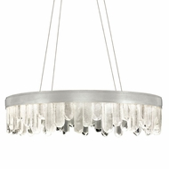 Fine Art Handcrafted Lighting 888240-11 Lior Contemporary Silver LED Drop Ceiling Light Fixture