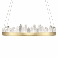 Fine Art Handcrafted Lighting 888440-2 Lior Contemporary Gold LED Hanging Light Fixture