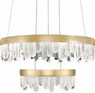 Fine Art Lamps 889640-2ST Lior Contemporary Gold LED 30.5  Ceiling Pendant Light