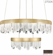 Fine Art Lamps 889640-31ST Lior Modern Bronze LED 30.5  Drop Ceiling Light Fixture