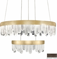 Fine Art Lamps 889640-3ST Lior Contemporary Bronze LED 30.5  Drop Lighting Fixture