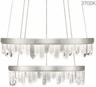 Fine Art Lamps 889740-11ST Lior Modern Silver LED 41  Pendant Lighting
