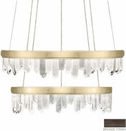 Fine Art Lamps 889740-3ST Lior Contemporary Bronze LED 41  Hanging Light