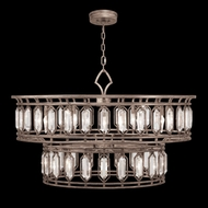 Fine Art Handcrafted Lighting 890140-1 Westminster Contemporary Brown LED Drop Ceiling Light Fixture