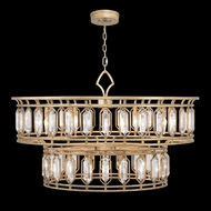 Fine Art Handcrafted Lighting 890140-2 Westminster Contemporary Gold LED Drop Lighting Fixture