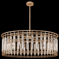 Fine Art Lamps 890240-2 Westminster Contemporary Gold LED Drum Pendant Light