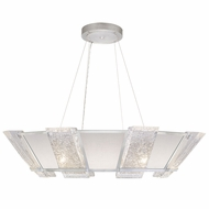 Fine Art Handcrafted Lighting 890640-11 Crownstone Contemporary Silver LED Lighting Pendant